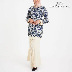 Baju Kurung Modern Sempit 523 Pastel Cream 9911