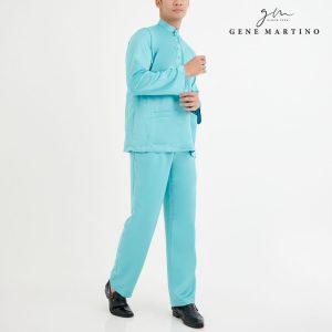 Baju Melayu Premium Dull Satin Classic Fit Aqua