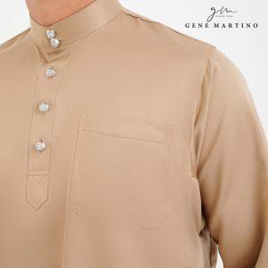 Baju Melayu Premium Dull Satin Classic Fit Beige