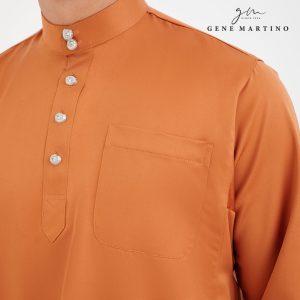 Baju Melayu Premium Dull Satin Classic Fit Cinnamon