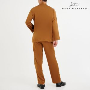 Baju Melayu Premium Dull Satin Classic Fit Coffee