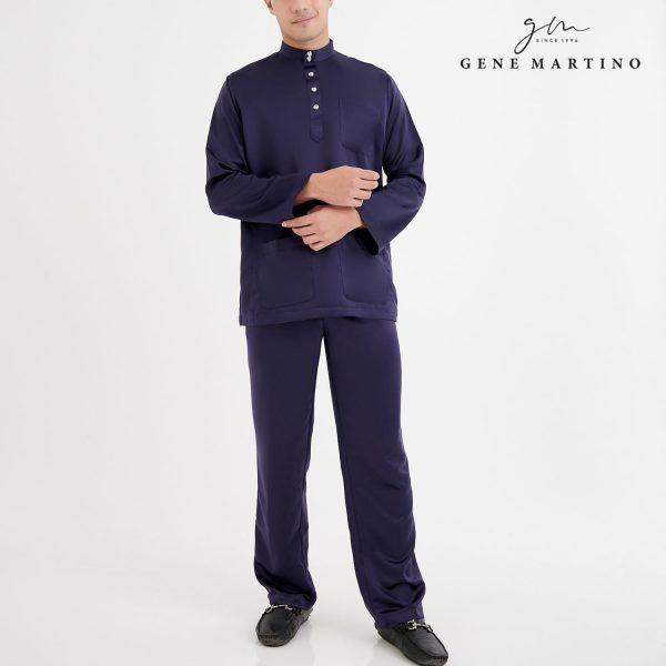 Baju Melayu Premium Dull Satin Classic Fit Dark Purple