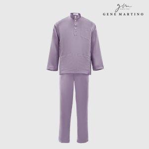 Baju Melayu Premium Dull Satin Classic Fit Dusty Purple