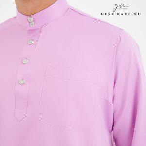 Baju Melayu Premium Dull Satin Classic Fit French Lilac
