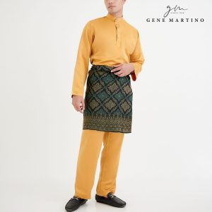Baju Melayu Premium Dull Satin Classic Fit Gold
