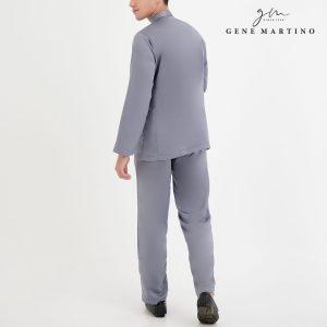 Baju Melayu Premium Dull Satin Classic Fit Grey