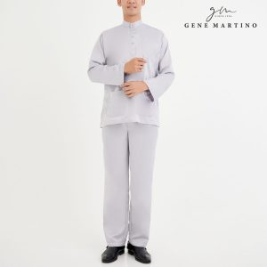 aju Melayu Premium Dull Satin Classic Fit Light Grey