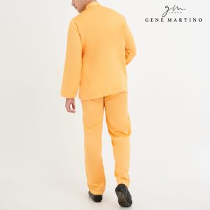 Baju Melayu Premium Dull Satin Classic Fit Light Marigold