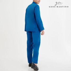 Baju Melayu Premium Dull Satin Classic Fit Peacock Blue