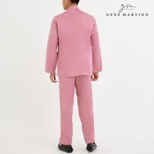 Baju Melayu Premium Dull Satin Classic Fit Prawn Pink