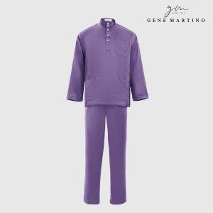 Baju Melayu Premium Dull Satin Classic Fit Purple Passion