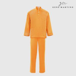 Baju Melayu Premium Dull Satin Classic Fit Tumeric