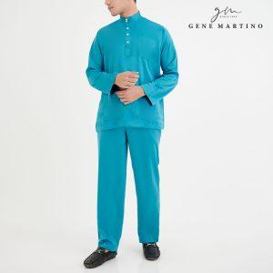 Baju Melayu Premium Dull Satin Classic Fit Turqoise