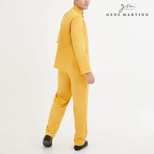 Baju Melayu Premium Dull Satin Classic Fit Yellow