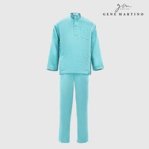 Baju Melayu Satin Classic Fit Aqua