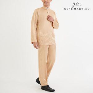 Baju Melayu Satin Classic Fit Beige