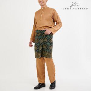 Baju Melayu Satin Classic Fit Bronze