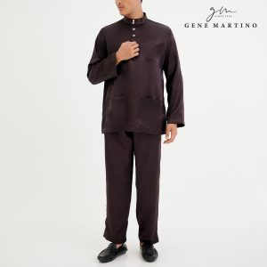 Baju Melayu Satin Classic Fit Cocoa
