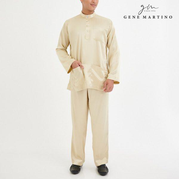 Baju Melayu Satin Classic Fit Cornsilk