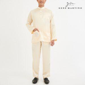 Baju Melayu Satin Classic Fit Cream White