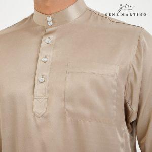 Baju Melayu Satin Classic Fit Dim Grey