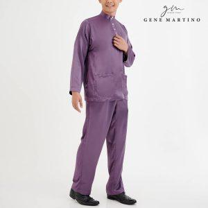 Baju Melayu Satin Classic Fit Dusty Purple