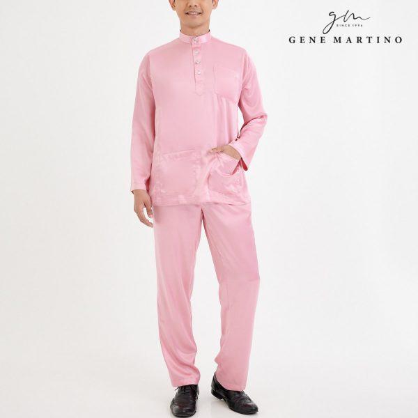 Baju Melayu Satin Classic Fit Flamingo