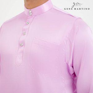 Baju Melayu Satin Classic Fit French Lilac