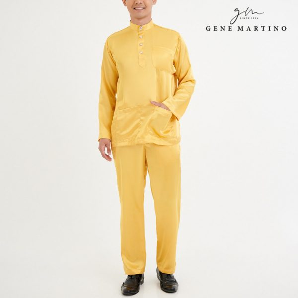 Baju Melayu Satin Classic Fit Gold