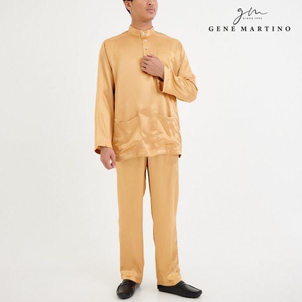 Baju Melayu Satin Classic Fit Light Brown