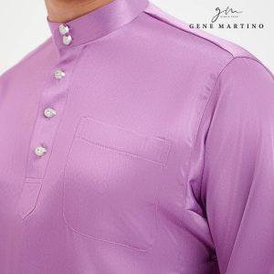 Baju Melayu Satin Classic Fit Lilac