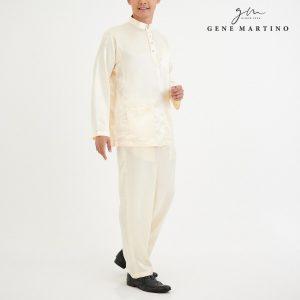 Baju Melayu Satin Classic Fit Off White