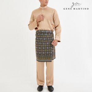 Baju Melayu Satin Classic Fit Pale Cream