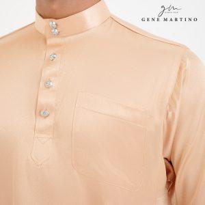 Baju Melayu Satin Classic Fit Rose Gold