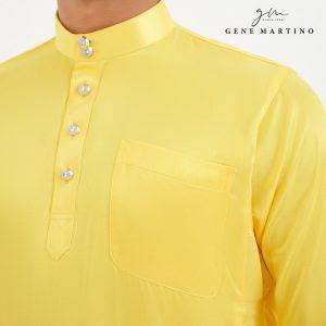 Baju Melayu Satin Classic Fit Royal Yellow