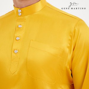 Baju Melayu Satin Classic Fit Sandy Yellow