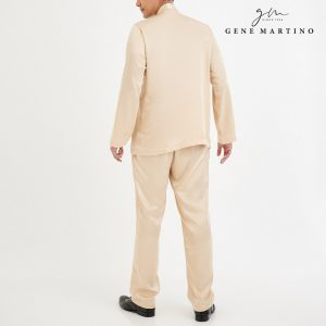 Baju Melayu Satin Classic Fit Seashell