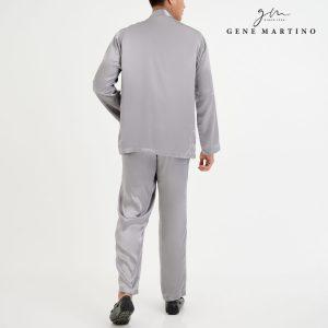 Baju Melayu Satin Classic Fit SilverBaju Melayu Satin Classic Fit Silver