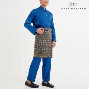 Baju Melayu Satin Classic Fit Soft Navy