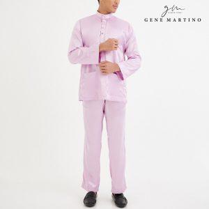 Baju Melayu Satin Classic Fit Sweet Pink