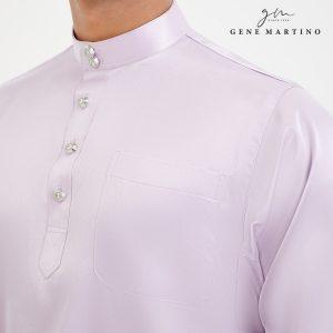Baju Melayu Satin Classic Fit Thistle Purple