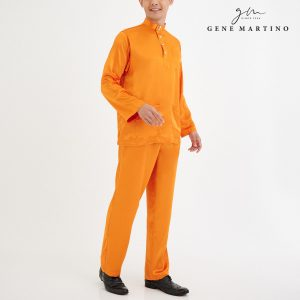 Baju Melayu Satin Classic Fit Turmeric