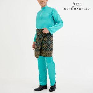 Baju Melayu Satin Classic Fit Turqoise Green