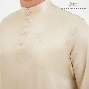 Baju Melayu Satin Classic Fit Vintage White