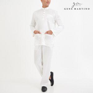 Baju Melayu Satin Classic Fit White