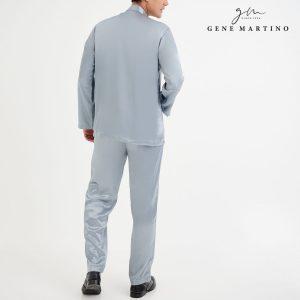 Baju Melayu Satin Classic Fit Winter Grey