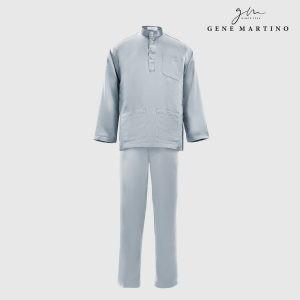 Baju Melayu Satin Classic Fit Winter GreyBaju Melayu Satin Classic Fit Winter Grey