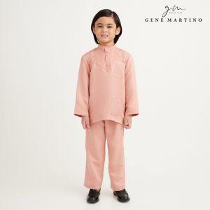 Gene Martino Aleef Baju Melayu Modern UA1020FA1 34 Light Peach
