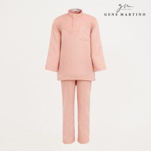 Gene Martino Aleef Baju Melayu Modern XA1020FA1 34 Light Peach