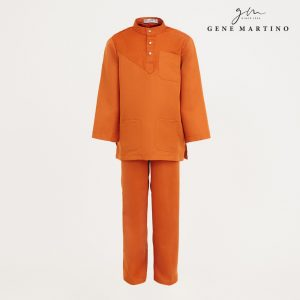 Gene Martino Aleef Baju Melayu Modern XA1020FA1 46 Orange Tangerine